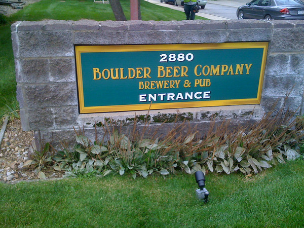 Boulder Beer Company Sign