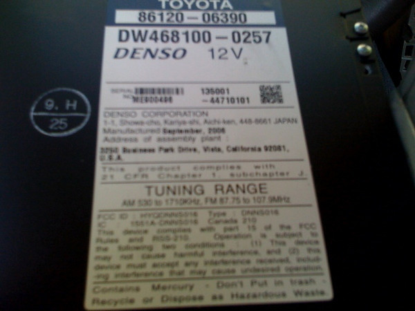 2007 Toyota Camry In-Dash Navigation Unit Repair | The